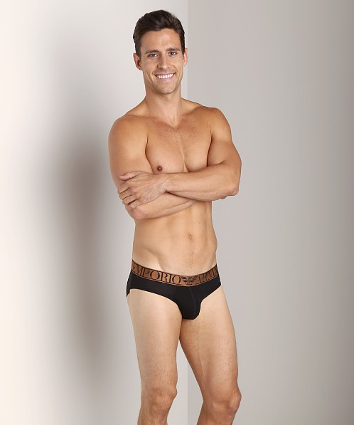 Emporio Armani Pima Stretch Cotton Brief Black