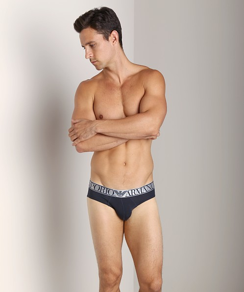 Emporio Armani Pima Stretch Cotton Brief Marine