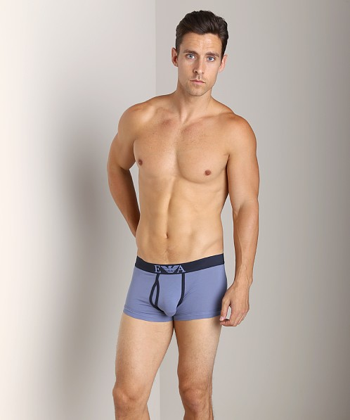 Emporio Armani Contrast Stretch Cotton Trunk Lead Grey
