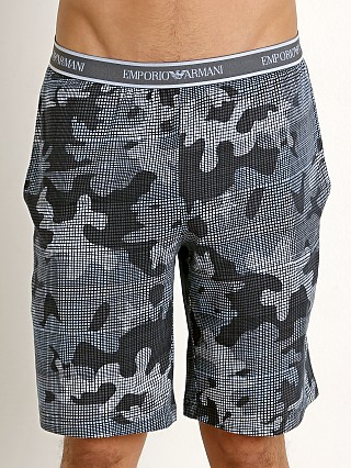 Emporio Armani Pattern Mix Bermuda Shorts Light Blue Camo