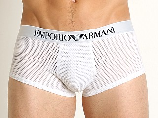 Emporio Armani Tech Mesh Trunk White