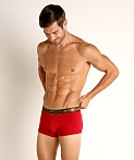 Emporio Armani Shiny Logoband Trunk Cherry, view 2