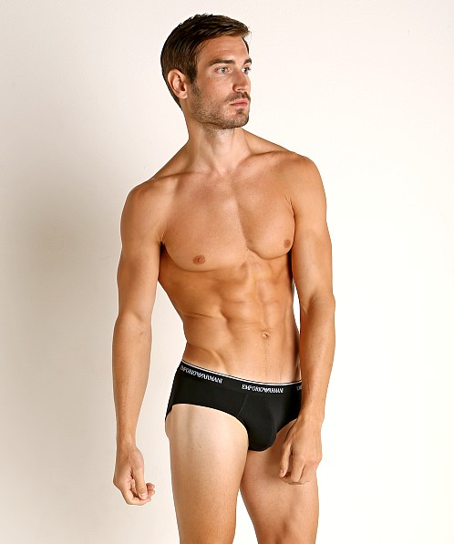 Emporio Armani Essential Microfiber Brief Black