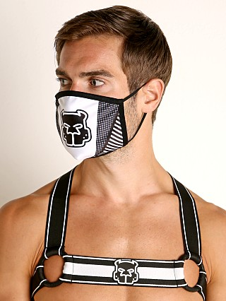 Model in white Cell Block 13 Kennel Club Mask