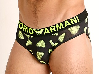 Model in neon eagles Emporio Armani Eagle Arcade Pop Prints Brief