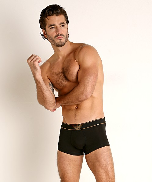 Emporio Armani Shiny Bold Eagle Trunk Black