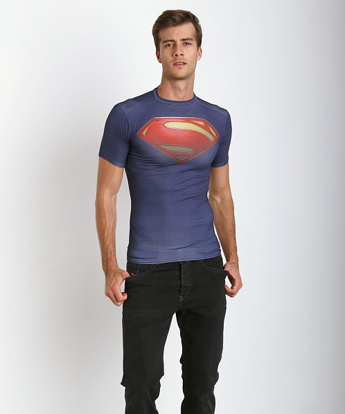 Under Armour Superman Full Suit Compression Tee Navy