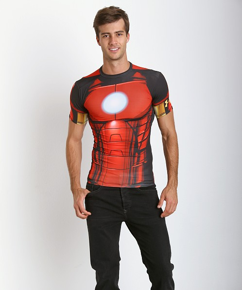 Under Armour Iron Man Full Suit Compression Tee Red