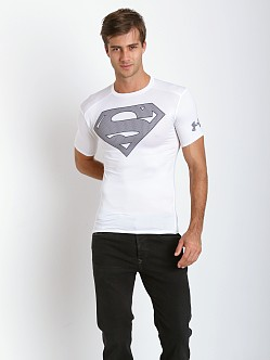 Under Armour Superman Heatgear Compression Shirt White