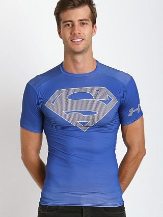 Under Armour Superman Heatgear Compression Shirt Royal