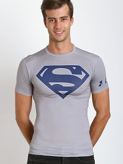 Under Armour Superman Heatgear Compression Shirt Steel