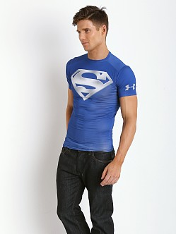 Under Armour Chrome Superman Heatgear Compression Shirt