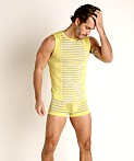 Modus Vivendi Pop Perforated Mesh Muscle Shirt Yellow, view 1