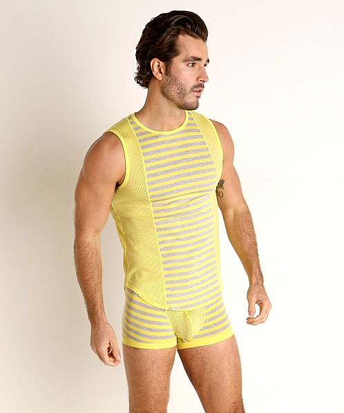 Modus Vivendi Pop Perforated Mesh Muscle Shirt Yellow