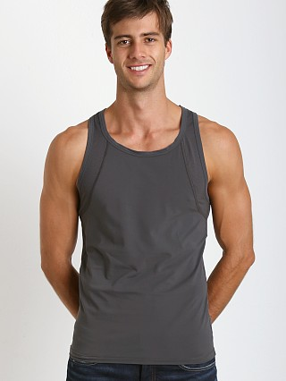 Hugo Boss Brushed Microfiber Tank Top Grey