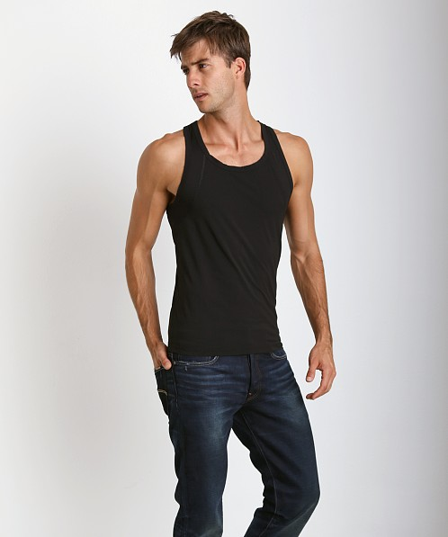 Hugo Boss Brushed Microfiber Tank Top Black
