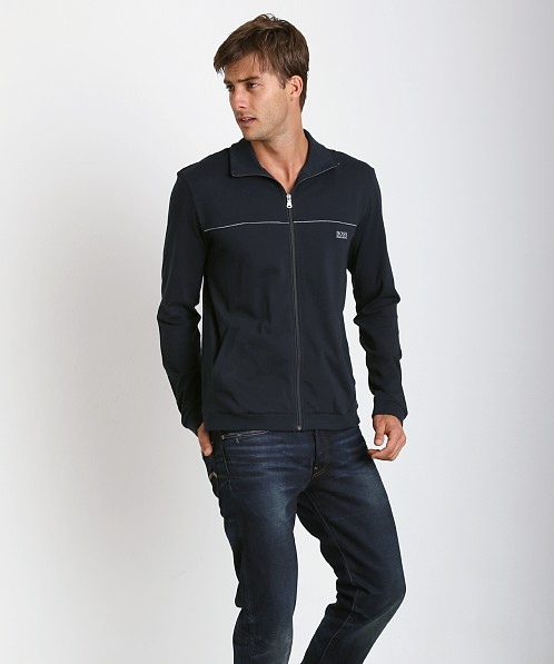 Hugo Boss Innovation 3 100% Cotton Zip Jacket Navy