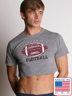 American Jock Football Scrimmage Tee Heather
