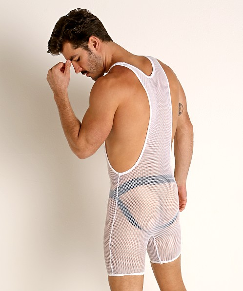 Go Softwear Pool Party Stretch Mesh Singlet White