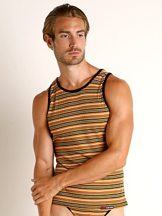Complete the look: Go Softwear California Sunset Tank Top Gold Stripe