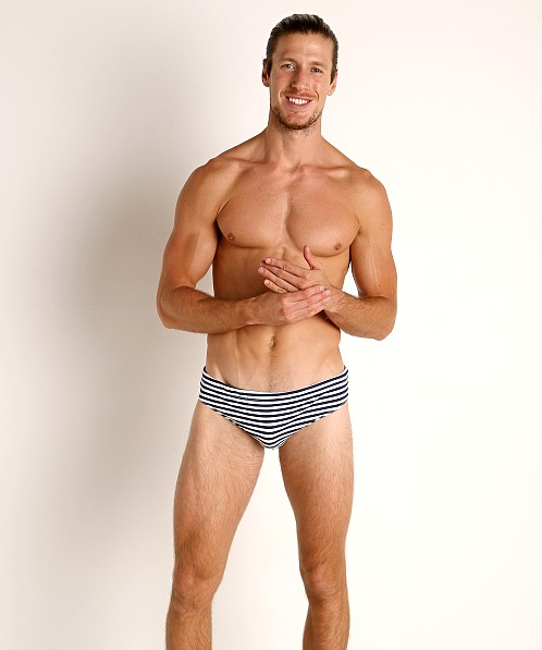 Go Softwear Cannes Swim Brief Navy Stripe