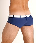 Go Softwear Riviera Square Cut Swim Trunk Navy, view 4