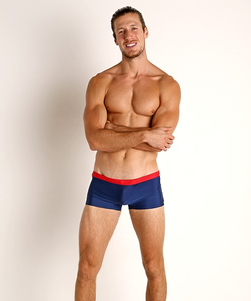 Go Softwear Las Olas C-Ring Swim Trunk Navy/Red