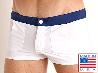 Go Softwear Biscayne Zip Front Swim Trunk White
