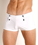 Go Softwear Sailor Snap Swim Trunk White, view 3