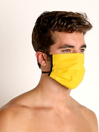 Model in yellow McKillop Polypropylene Face Mask