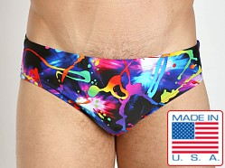 LASC Competition Swim Brief Black Paint