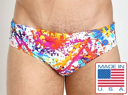 LASC Competition Swim Brief White Splatter