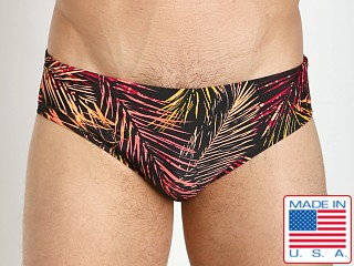 LASC Competition Swim Brief Black Palms
