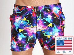 LASC Swim Shorts Black Paint