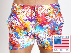 LASC Swim Shorts White Splatter