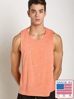 LASC Lightweight Phone Pocket Gym Tank Orange