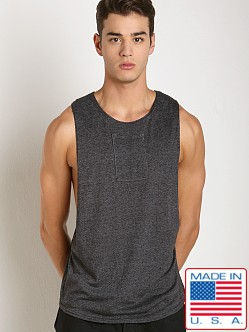 LASC Lightweight Phone Pocket Gym Tank Charcoal