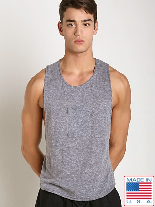 LASC Lightweight Phone Pocket Gym Tank Heather Grey