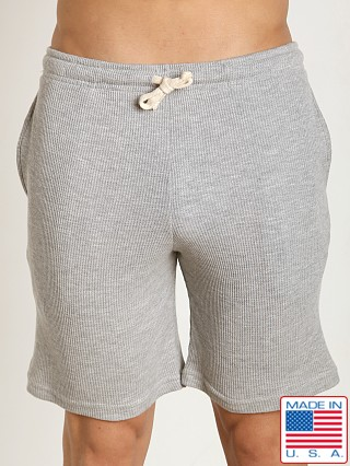 LASC Baby Waffle Gym Short Heather Grey