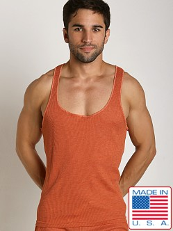 LASC Baby Waffle String Tank Top Orange