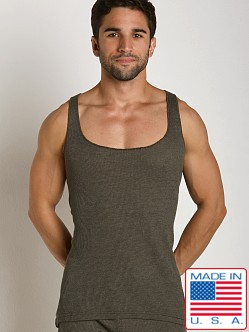 LASC Baby Waffle String Tank Top Army