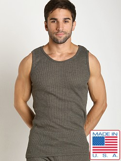 LASC Baby Waffle Tank Top Army