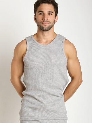 Complete the look: LASC Baby Waffle Tank Top Heather Grey
