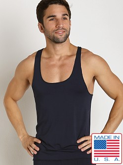 LASC Bamboo Fast Back Tank Top Navy