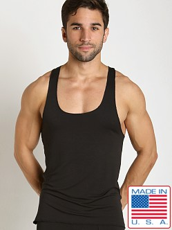 LASC Bamboo Fast Back Tank Top Black