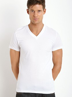 Levi's 200 Series 100% Cotton V-Neck Tee Two-Pack Bright White