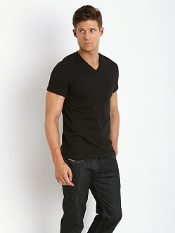 Levi's 200 Series 100% Cotton V-Neck Tee Two-Pack Black