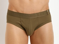 Levi's Underwear 300 Series Rib Briefs Two-Pack Military Olive
