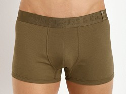 Levi's Underwear 300 Series Rib Trunks Two-Pack Military Olive