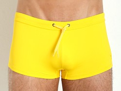 Emporio Armani Eagle Square Cut Swim Trunk Yellow